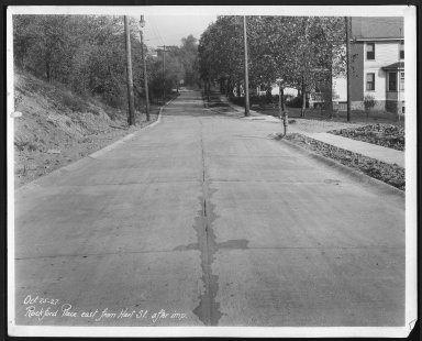 Street Improvement Photographs -- Box 28, Folder 22 (Rockford Place) -- print, 1927-10-25