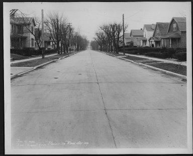 Street Improvement Photographs -- Box 28, Folder 23 (Roe Street) -- print, 1929-01-10