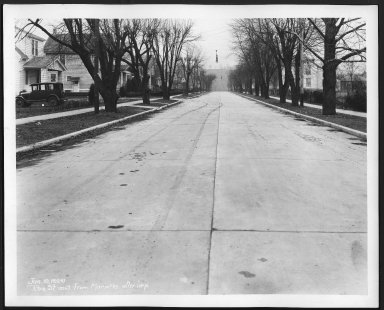 Street Improvement Photographs -- Box 28, Folder 23 (Roe Street) -- print, 1929-01-10