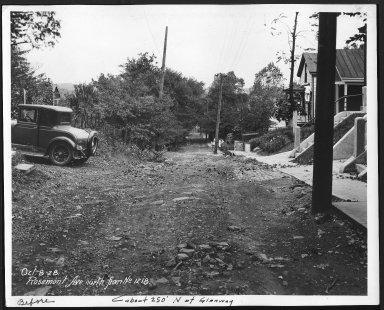 Street Improvement Photographs -- Box 28, Folder 28 (Rosemont Avenue) -- print, 1928-10-08
