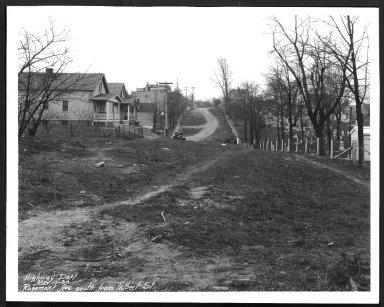 Street Improvement Photographs -- Box 28, Folder 28 (Rosemont Avenue) -- print, 1930-03-17