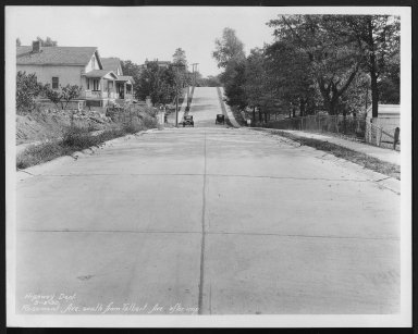 Street Improvement Photographs -- Box 28, Folder 28 (Rosemont Avenue) -- print, 1930-09-19