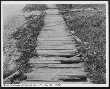 Street Improvement Photographs -- Box 28, Folder 31 (Rushton Road) -- print, 1929-04-30