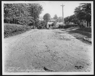 Street Improvement Photographs -- Box 28, Folder 33 (Sagola Avenue) -- print, 1931-07-14