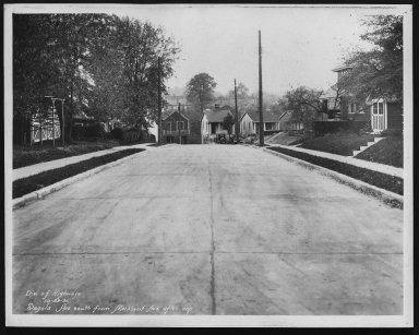 Street Improvement Photographs -- Box 28, Folder 33 (Sagola Avenue) -- print, 1931-10-29