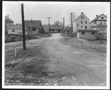 Street Improvement Photographs -- Box 28, Folder 34 (Saxton Avenue) -- print, 1929-03-26