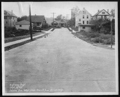 Street Improvement Photographs -- Box 28, Folder 34 (Saxton Avenue) -- print, 1929-09-16