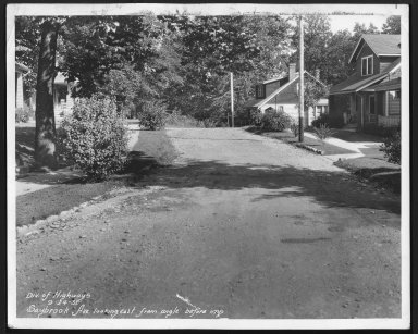Street Improvement Photographs -- Box 28, Folder 35 (Saybrook Avenue) -- print, 1931-09-24