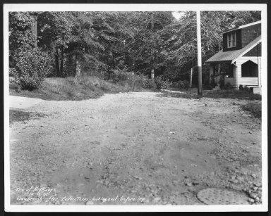 Street Improvement Photographs -- Box 28, Folder 35 (Saybrook Avenue) -- print, 1931-10-03