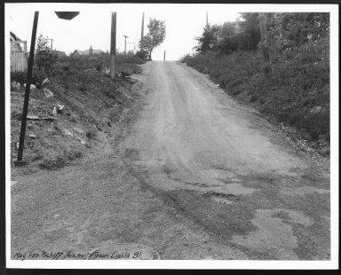 Street Improvement Photographs -- Box 28, Folder 36 (Schiff Avenue) -- print, 1929-05-01