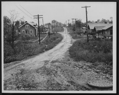 Street Improvement Photographs -- Box 28, Folder 38 (Schwartze Avenue) -- print, 1930-09-14