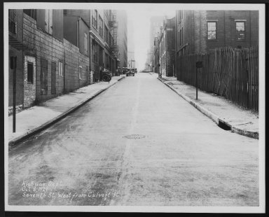 Street Improvement Photographs -- Box 28, Folder 40 (Seventh Street) -- print, 1929-10-08