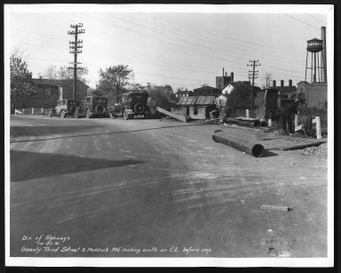 Street Improvement Photographs -- Box 28, Folder 43 (Seventy-Third Street) -- print, 1931-10-22