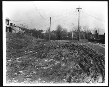 Street Improvement Photographs -- Box 28, Folder 44 (Shasta Place) -- print, 1929-03-01
