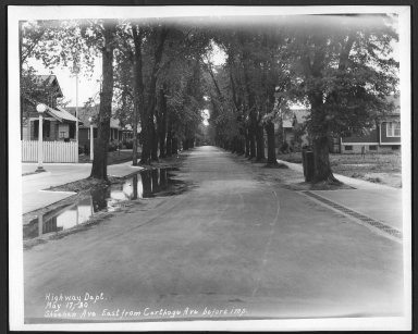 Street Improvement Photographs -- Box 28, Folder 47 (Sheehan Avenue) -- print, 1930-05-17