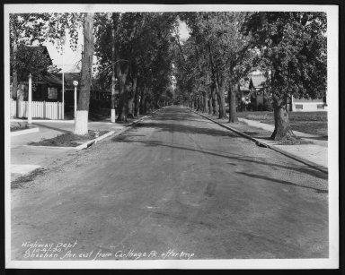 Street Improvement Photographs -- Box 28, Folder 47 (Sheehan Avenue) -- print, 1930-10-09