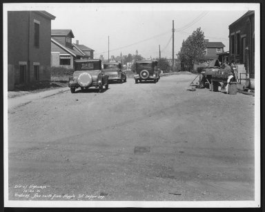 Street Improvement Photographs -- Box 28, Folder 51 (Sidney Avenue) -- print, 1931-10-20