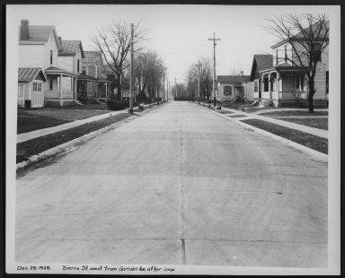 Street Improvement Photographs -- Box 28, Folder 52 (Sierra Street) -- print, 1928-12-28