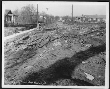 Street Improvement Photographs -- Box 28, Folder 54 (Simpson Street) -- print, 1927-12-05