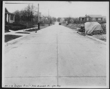Street Improvement Photographs -- Box 28, Folder 54 (Simpson Street) -- print, 1928-11-17