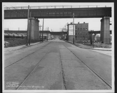 Street Improvement Photographs -- Box 28, Folder 55 (Sixth Street) -- print, 1935-04-22