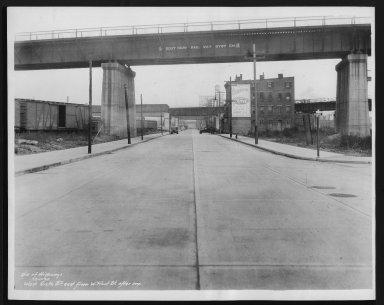 Street Improvement Photographs -- Box 28, Folder 55 (Sixth Street) -- print, 1935-12-11