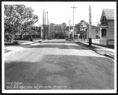 Street Improvement Photographs -- Box 28, Folder 68 (Sixty-Ninth Street) -- print, 1931-10-22