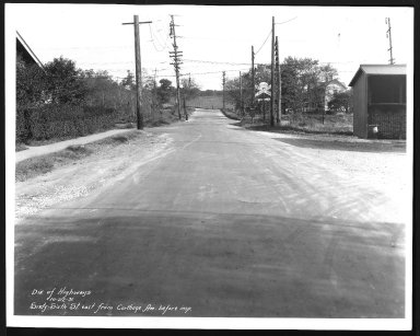 Street Improvement Photographs -- Box 28, Folder 69 (Sixty-Sixth Street) -- print, 1931-10-22