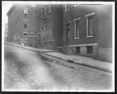 Street Improvement Photographs -- Box 28, Folder 70 (Spring Street) -- print, 1927