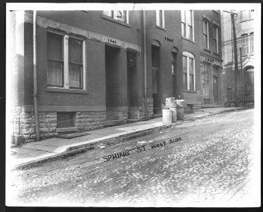 Street Improvement Photographs -- Box 28, Folder 70 (Spring Street) -- print, 1927