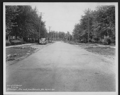 Street Improvement Photographs -- Box 28, Folder 74 (Stanhope Avenue) -- print, 1934-05-23