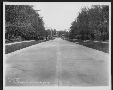 Street Improvement Photographs -- Box 28, Folder 74 (Stanhope Avenue) -- print, 1934-09-24