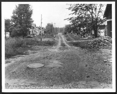 Street Improvement Photographs -- Box 28, Folder 75 (Stanhope Avenue) -- print, 1930-09-14