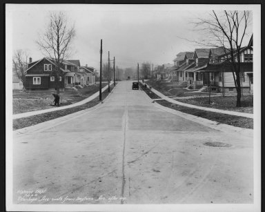 Street Improvement Photographs -- Box 28, Folder 75 (Stanhope Avenue) -- print, 1931-02-06