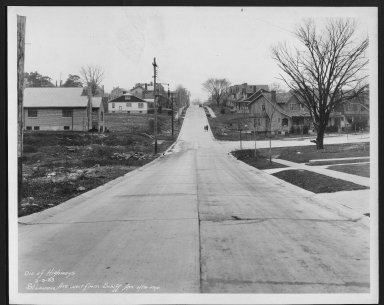 Street Improvement Photographs -- Box 28, Folder 78 (St. Lawrence Avenue) -- print, 1933-02-03