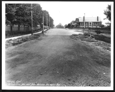 Street Improvement Photographs -- Box 28, Folder 79 (St. Lawrence Avenue) -- print, 1930-10-10