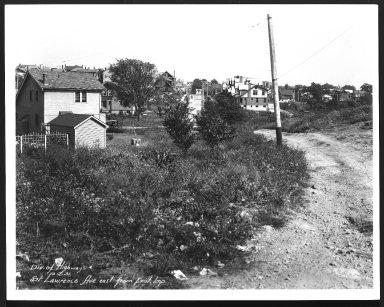 Street Improvement Photographs -- Box 28, Folder 79 (St. Lawrence Avenue) -- print, 1931-10-02