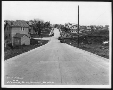 Street Improvement Photographs -- Box 28, Folder 79 (St. Lawrence Avenue) -- print, 1932-01-20