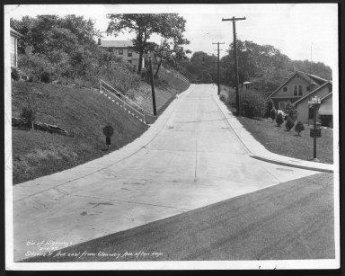 Street Improvement Photographs -- Box 29, Folder 07 (Sterret Avenue) -- print, 1933-08-16
