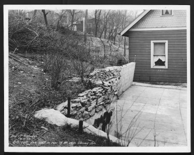 Street Improvement Photographs -- Box 29, Folder 07 (Sterret Avenue) -- print, 1933-03-03