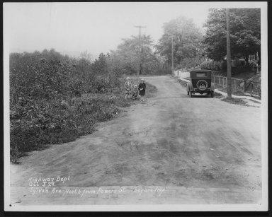Street Improvement Photographs -- Box 29, Folder 14 (Sylvan Avenue) -- print, 1929-10-03