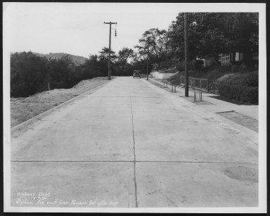 Street Improvement Photographs -- Box 29, Folder 14 (Sylvan Avenue) -- print, 1930-05-07