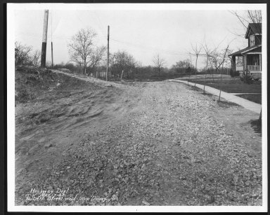 Street Improvement Photographs -- Box 29, Folder 20 (Talbert Avenue) -- print, 1930-03-17
