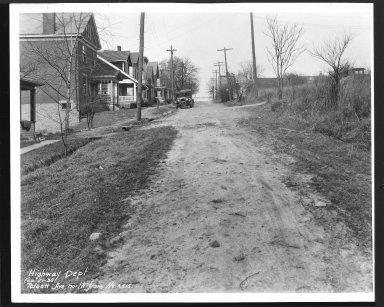 Street Improvement Photographs -- Box 29, Folder 21 (Talbott Avenue) -- print, 1930-02-21