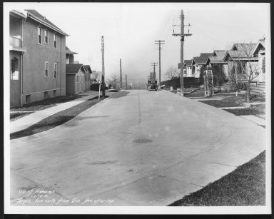 Street Improvement Photographs -- Box 29, Folder 23 (Tarpis Avenue) -- print, 1931-12-18