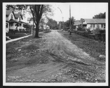 Street Improvement Photographs -- Box 29, Folder 24 (Tanner Avenue) -- print, 1930-10-09