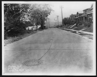 Street Improvement Photographs -- Box 29, Folder 25 (Taylor Avenue) -- print, 1929-09-24