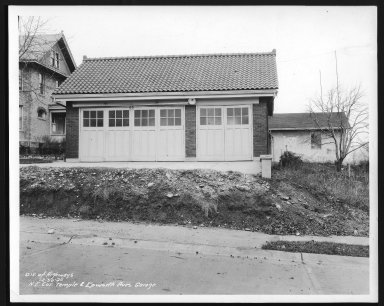Street Improvement Photographs -- Box 29, Folder 26 (Temple Avenue) -- print, 1936-12-30