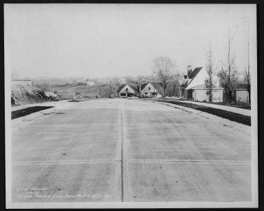 Street Improvement Photographs -- Box 29, Folder 26 (Temple Avenue) -- print, 1936-12-08