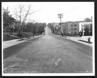 Street Improvement Photographs -- Box 29, Folder 30 (Terrace Avenue) -- print, 1932-05-16
